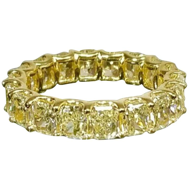 diamond product by com ring eternity gold band bands yellow affinity qvc