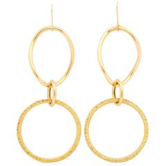 Faraone Mennella Yellow Sapphire Gold Stella Drop Earrings