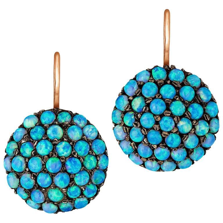 Victorian Opal Gold Drop Earrings 1