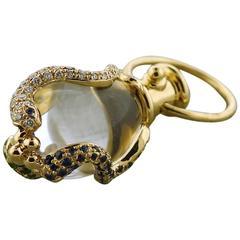 Temple St.Clair Tsavorite Sapphire Diamond Gold Serpent Amulet Pendant