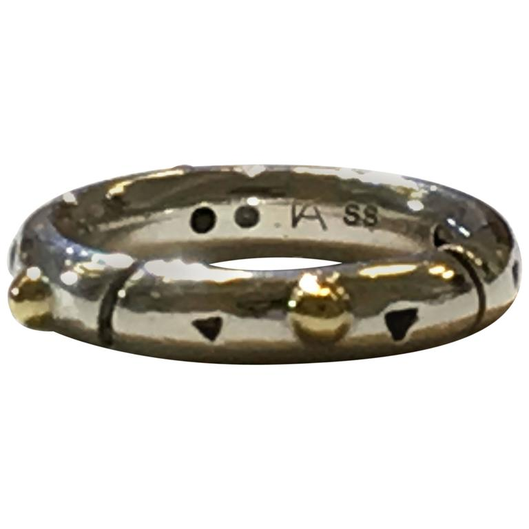 John Atencio Silver And Gold Elements Band Stack Ring For Sale At