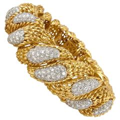 Hammerman Brothers Diamond Gold Bracelet