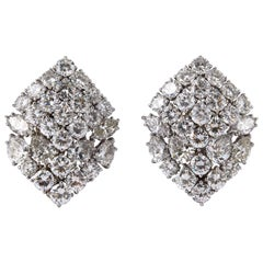 1960s David Webb Diamond Platinum Earrings