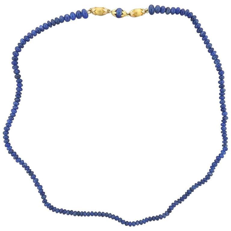 Buccellati Sapphire Bead Gold Necklace