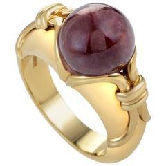 Bulgari Pink Tourmaline Gold Sphere Ring