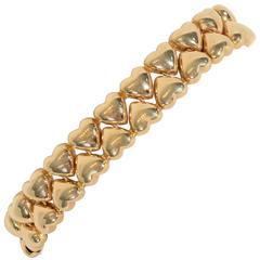 Cartier Double Hearts Gold Bracelet
