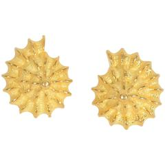 Valentin Magro Gold Shell Earrings