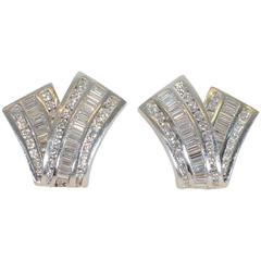 Charles Krypell Diamond Gold Earrings