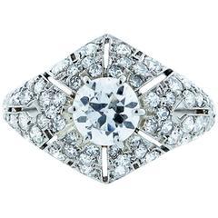 Park Place Antique Jewelry Splendid Art Deco Diamond Platinum Ring