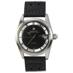 "Universal Geneve Stainless Steel ""Polerouter Super"" Automatic Wristwatch"