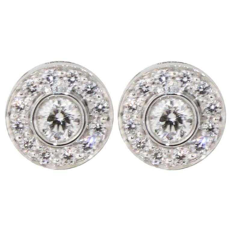 Tiffany & Co. Circlet Diamond Platinum Stud Earrings For Sale