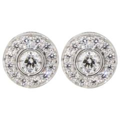 Tiffany & Co. Circlet Diamond Platinum Stud Earrings