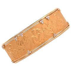 """Carrera y Carrera """"Romeo and Juliet"""" Gold Cuff Bracelet"""