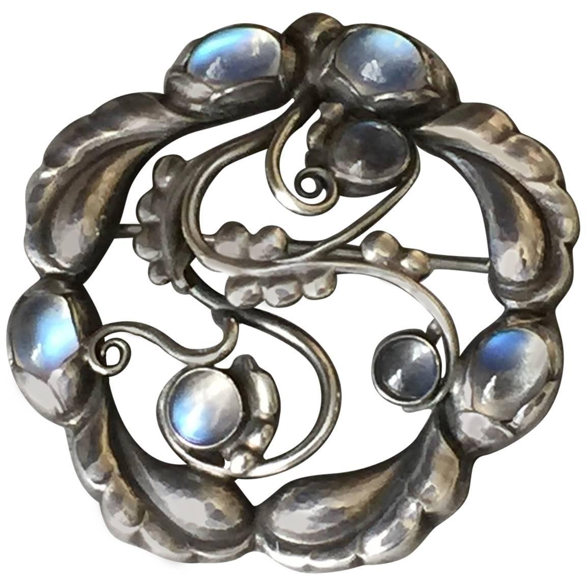 by img sweden moonstone brooch skold products of bancroft silver sterling per