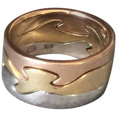 Georg Jensen Three Color Gold Fusion Ring by Nina Koppel