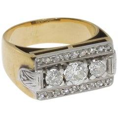 Art Deco Diamond 18 Carat Gold Ring