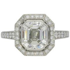 Hancocks Beautiful 2.38 Carat Emerald-Cut Diamond And Platinum Ring