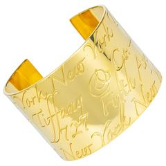Tiffany & Co. Gold Notes Collection Cuff Bracelet