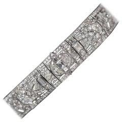 "1930s 37 Carat Diamonds Platinum Art Deco ""Great Gatsby"" Choker Necklace"