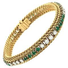 Hammerman Brothers Emerald Diamond Gold Bracelet