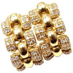 Chopard Diamond Gold Hoop Earrings