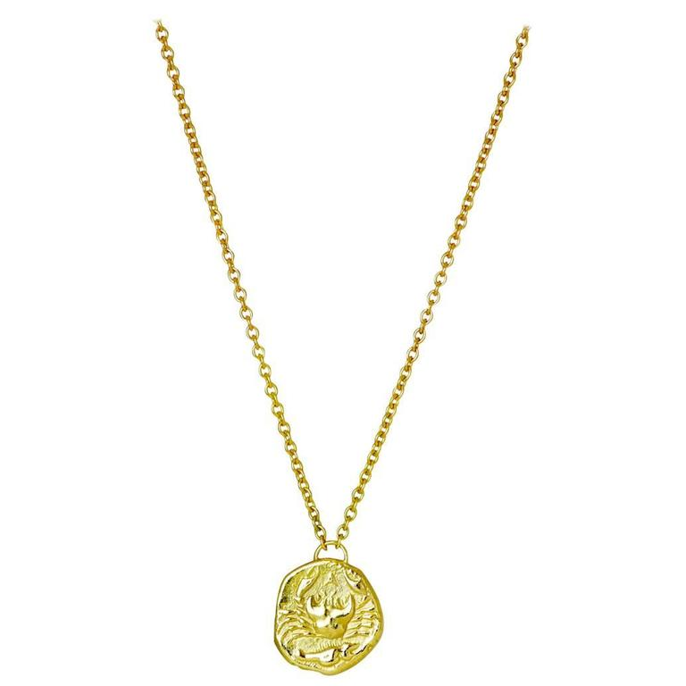Karkinos 18 Karat Yellow Gold Crab Necklace