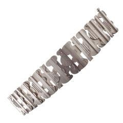 Rey Urban for A. Fausing Denmark: Sculptural Modernist Silver Bracelet