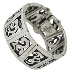 Super Rare Antonio Pineda Sterling Silver Pierced Link Bracelet - see other