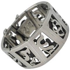 Super Rare Antonio Pineda .970 Silver Pierced Bracelet - 1of2 a mismatched pair
