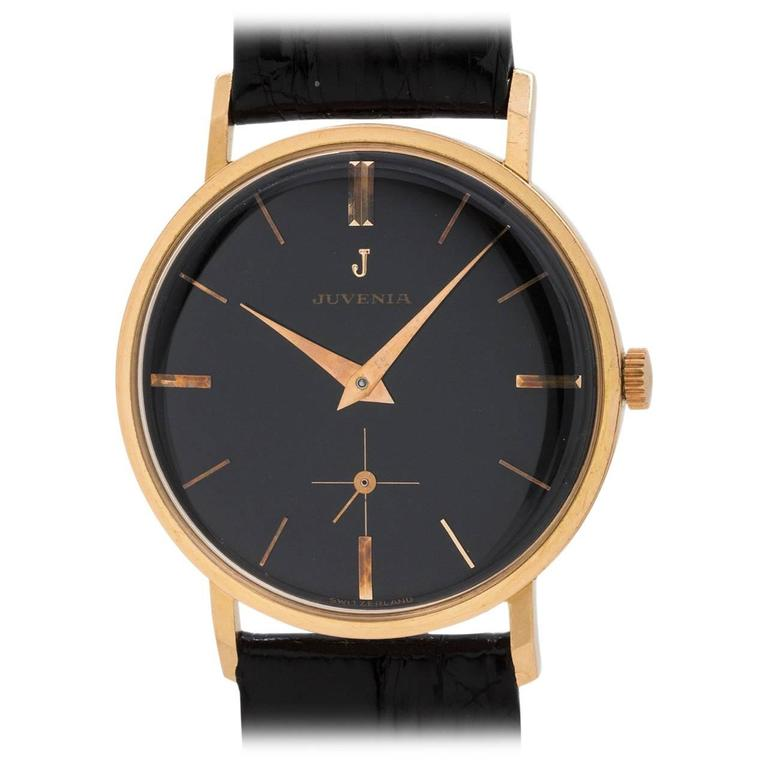 Juvenia Rose Gold Dress Model Wristwatch For Sale