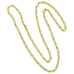 Buccellati Gold Long Chain Necklace