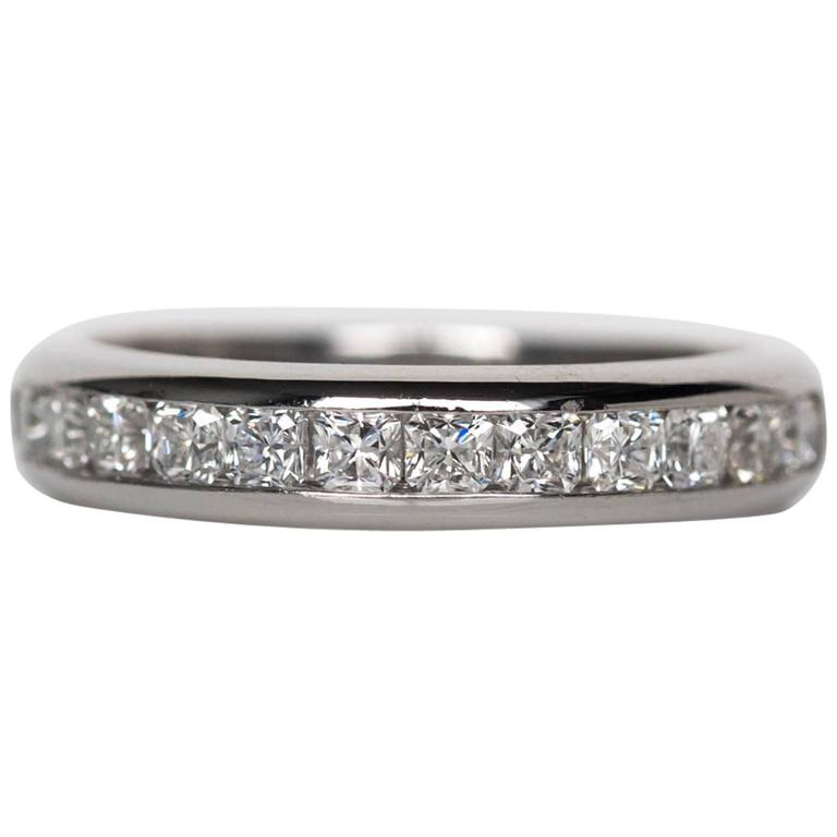 24164144d Tiffany and Co. Lucida Cut 1.00 Carat Diamonds Wedding Band Ring For ...