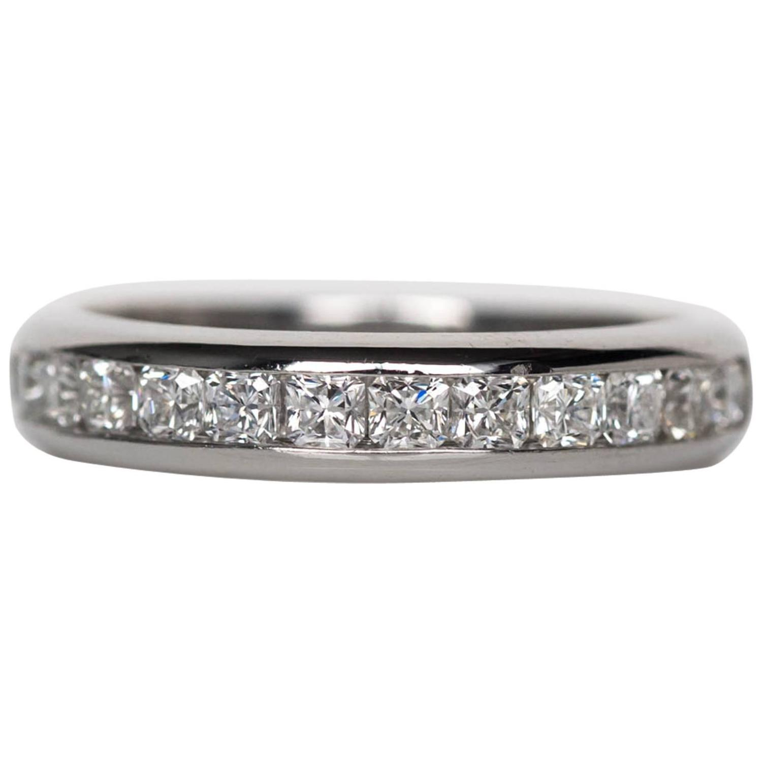 diamond co ring product eternity lucida half platinum in tiffany cut