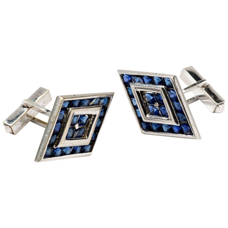Lucien Piccard Gold Cufflinks For Sale