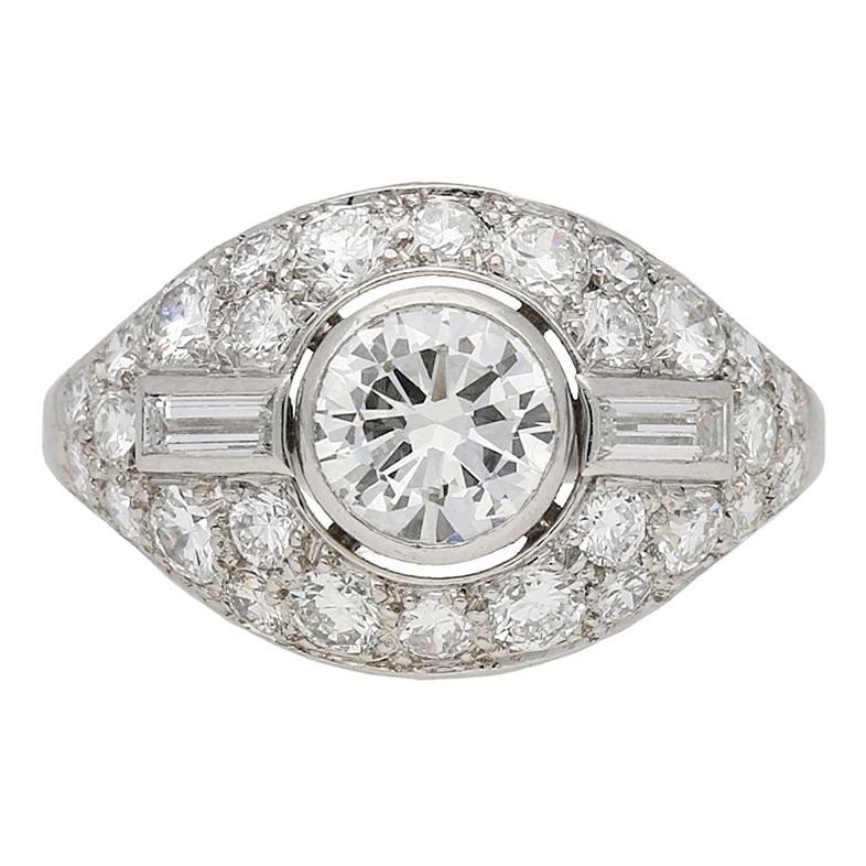 Diamond Cluster Ring by Boucheron Paris, circa 1950s