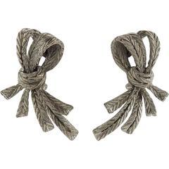 Buccellati Oro Gold Bow Earrings