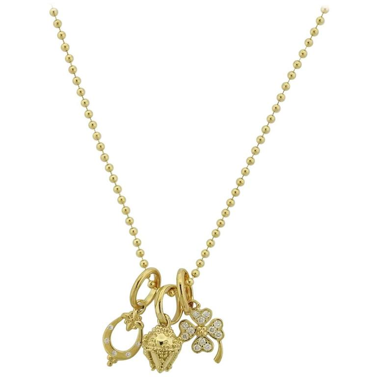 unnamed necklace gold rose best diamond luck charm lucky pendant good qq of