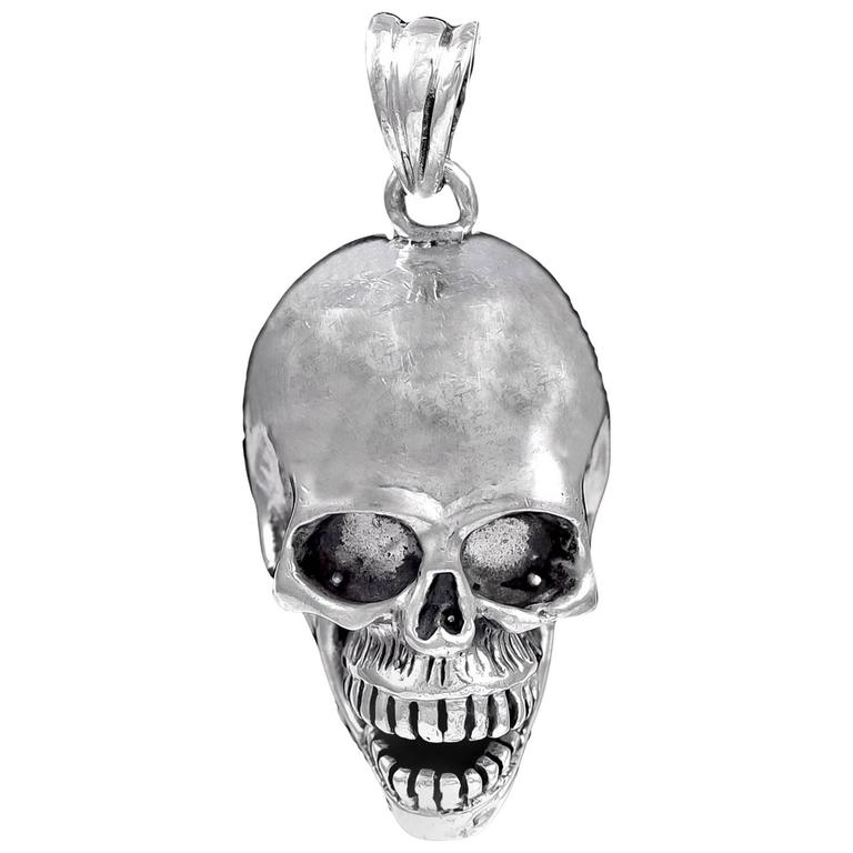 Sterling Silver Skull Pendants Sterling silver skull pendant for sale at 1stdibs sterling silver skull pendant for sale audiocablefo