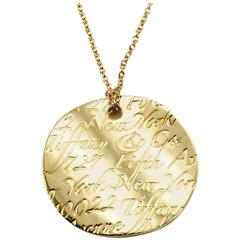 Tiffany & Co. Notes Round Pendant Necklace