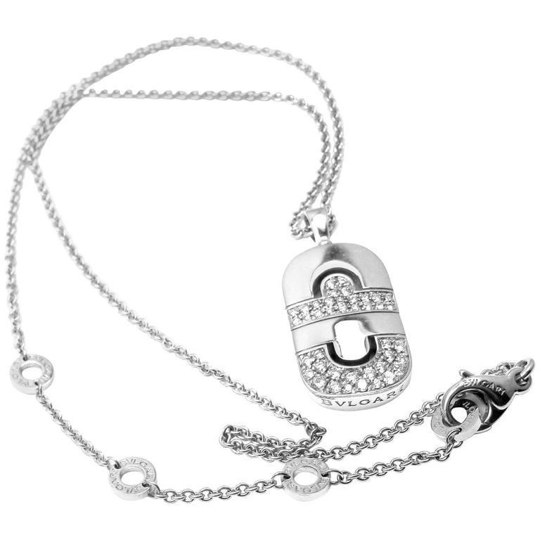 Bulgari Parentesi Diamond Gold Pendant Necklace