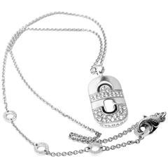 Bulgari Parentesi Diamond Gold Pendant Necklace