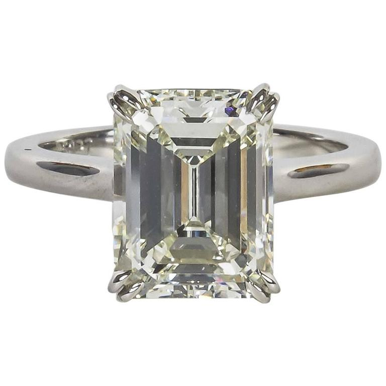 Elegant carat gia cert emerald cut diamond solitaire for 26 carat diamond ring