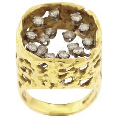 1972 John Donald Diamond Gold Ring