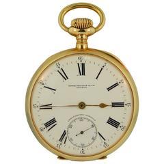 Patek Philippe & Cie Gold Chronometro Gondolo Open Face Pocket Watch