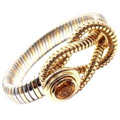 Cartier Citrine Stainless Steel Gold Hercules Knot Bracelet