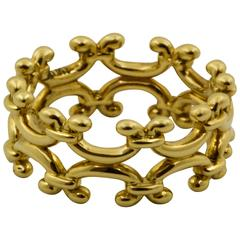 Gold Scroll Work Ring