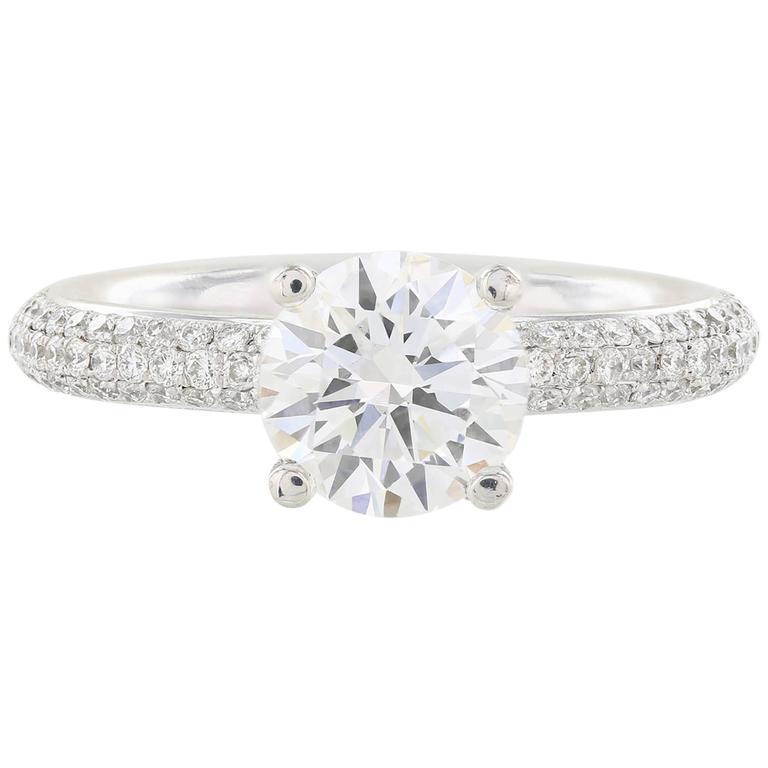 1.64 Carat Diamond Platinum Eternity Band Ring