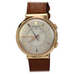 Jaeger LeCoultre Rose Gold Memovox Alarm Manual Wind Wristwatch