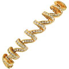 Charles Krypell Diamonds Gold Bracelet