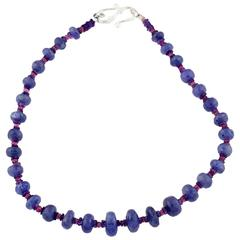 Tanzanite and Pink Tourmaline Necklace